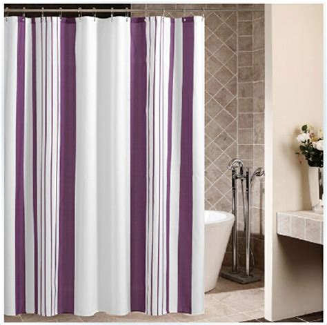 contemporary fabric shower curtains purple and white striped shower curtains fabric