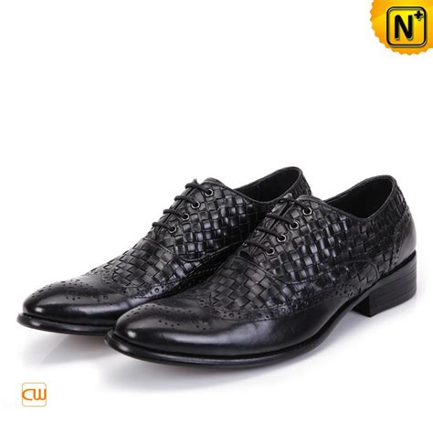 mens handmade leather brogue shoes black cw761130
