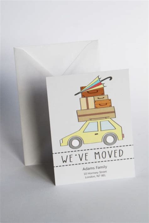 moving house cards template 7 best change of address cards templates images on
