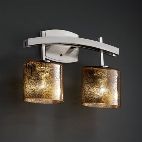 Asian Bathroom Lighting Fusion Archway 2 Light 16 Quot Bath Vanity Light In Brushed Nickel Asian Bathroom Vanity