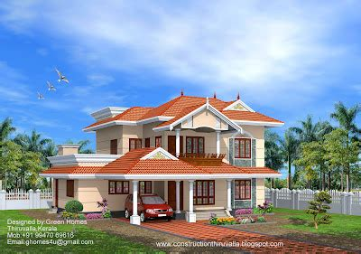 2850 house front green homes beautiful kerala model home 2850 sq