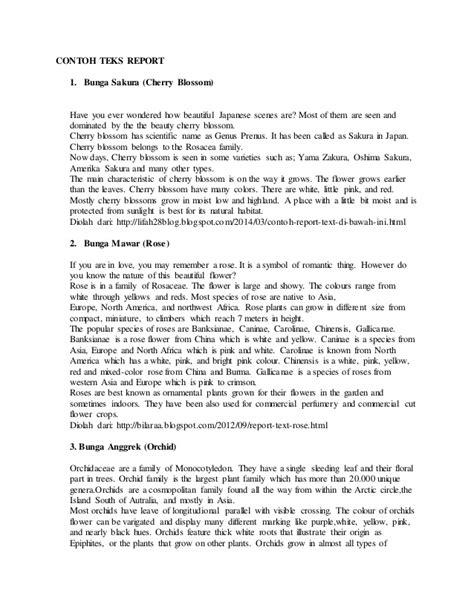 Contoh Report Text Pendek Bahasa Inggris Beserta :: CONTOH