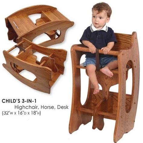 3 in 1 high chair rocking horse desk plans 27 best images about solid oak on pinterest queen anne