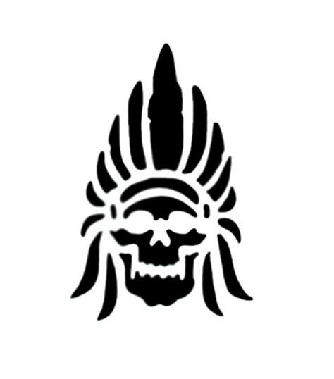 stencil indian skull