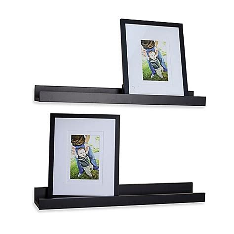 10615 Asma Black Set 2 In 1 buy danya b quot u quot ledge with photo frame in laminated black