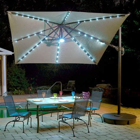 Patio Umbrella Lighting Island Umbrella Santorini Ii Fiesta 10 Ft Square