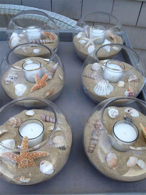 travel themed table decorations diy diy pinterest diy beach themed wedding table center pieces seashells