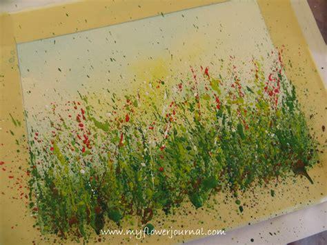 how to splatter acrylic paint on a canvas create a splattered paint flower garden my flower journal