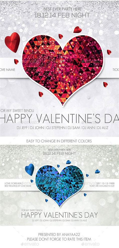17 Best Valentines Day Flyers Cards Templates 2017 12 Days Of Flyer Template