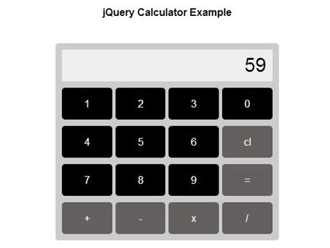 Calculator Jquery | creating a simple calculator with jquery free jquery plugins