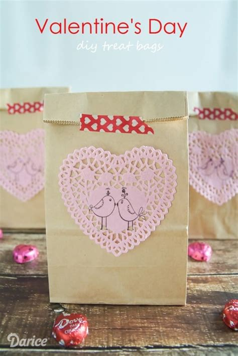 valentines day bag diy valentines day treat bags