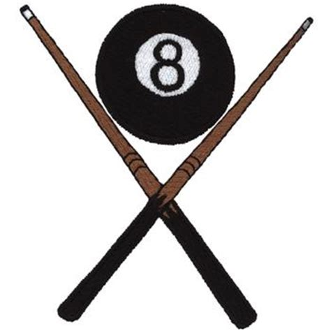 stick design sports embroidery design 8 ball cue sticks from dakota