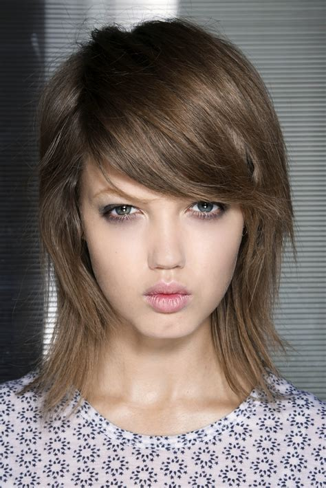 long hair sweeped side fringe shaved 50 coolest cuts for 2015 shag hairstyles side sweep