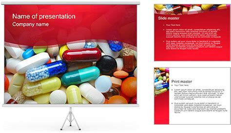 pills tablets powerpoint template backgrounds id