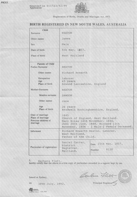 Marriage Records Nsw Sle Birth Certificates From Australia And Other