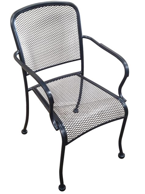 Wrought Iron Outdoor Chairs by Outdoor Wrought Iron Stackable Arm Chair Mc19a Hnd