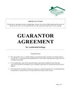 rent guarantor form template guarantor form format fill printable fillable