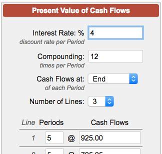discounted cash flow analysis street of walls