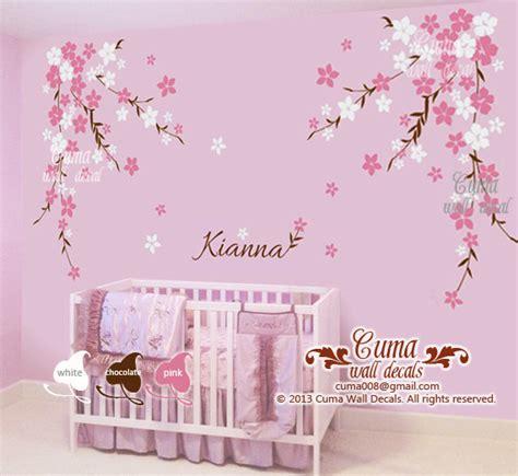 Nursery Wall Decal Baby Girl And Name Cuma Wall Decals Baby Name Wall Decals For Nursery