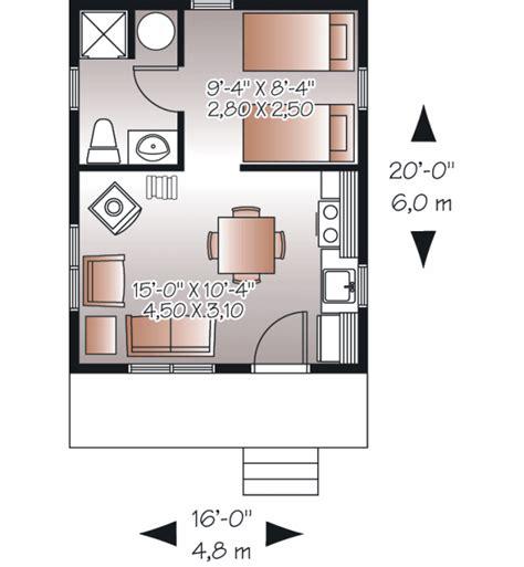 Space Efficient House Plans Cottage Style House Plan 1 Beds 1 Baths 320 Sq Ft Plan