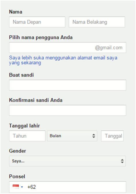 buat email    daftar akun gmail  google