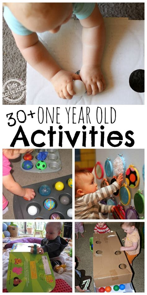 1 Year Ideas - 30 busy 1 year activities activities