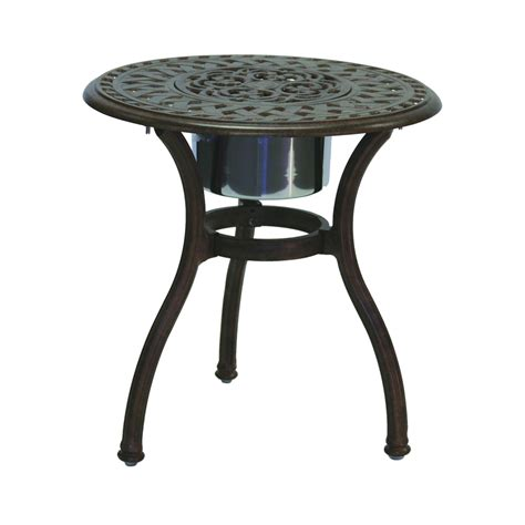 aluminum accent table cast aluminum cast aluminum end table