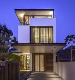 house design architecture world of architecture thin but modern house by