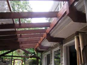 Attaching A Pergola To A House by Finally A Way To Attach A Pergola To Our House W Out