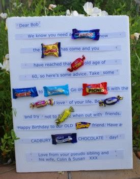 Letter Using Chocolate Bars Bar Card