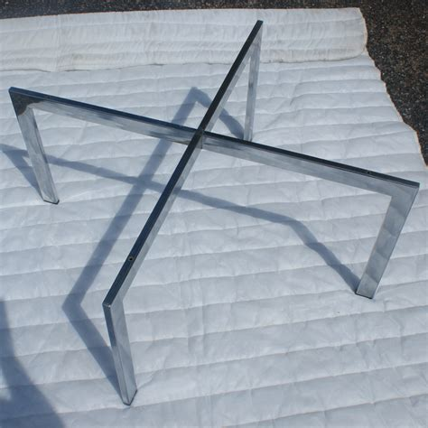 Chrome Coffee Table Base 24 Quot Vintage X Shaped Barcelona Chrome Coffee Table Base Ebay