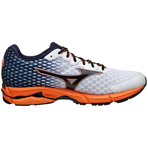 mizuno running shoes wave rider mizuno wave rider 18 mens running shoes in white blue at