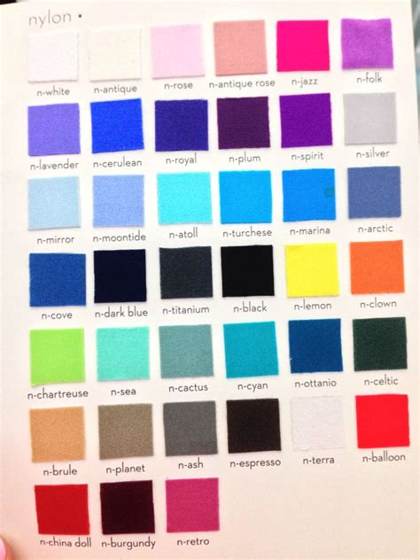 yumiko color chart yumiko i just can t wait colour chart colors and color