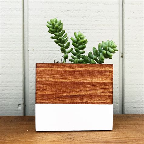 Handmade Wooden Planters - 15 handmade planter designs that will freshen up your