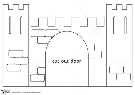 cut out castle template s pet castle design project portcullis