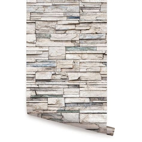 pic new posts wallpaper tile look faux stone wallpaper peel and stick simple shapes