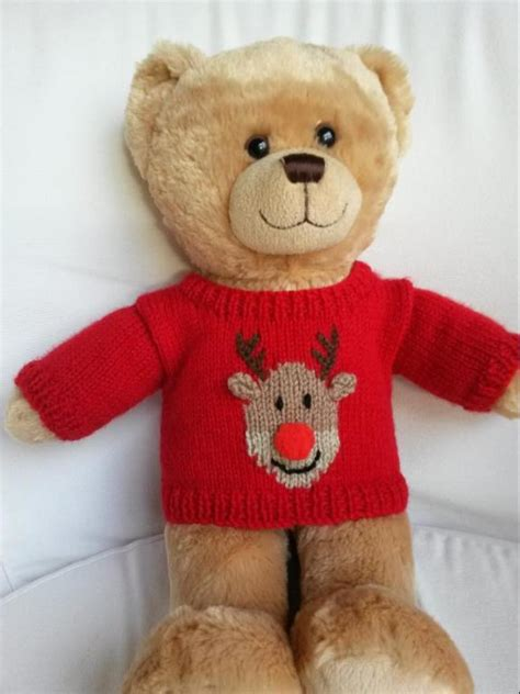 knitting pattern teddy jumper teddy bear christmas sweaters by linmary123 craftsy