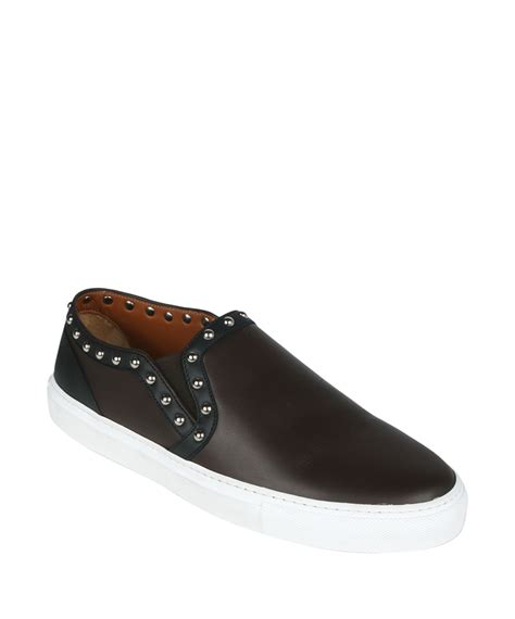 givenchy slip on sneakers givenchy slip on sneakers with studs in brown for lyst