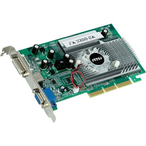 Vga Fx 5200 Graphics Cardmsi Nvidia Geforce Fx 5200 256 Mb Ddr Ram Agp