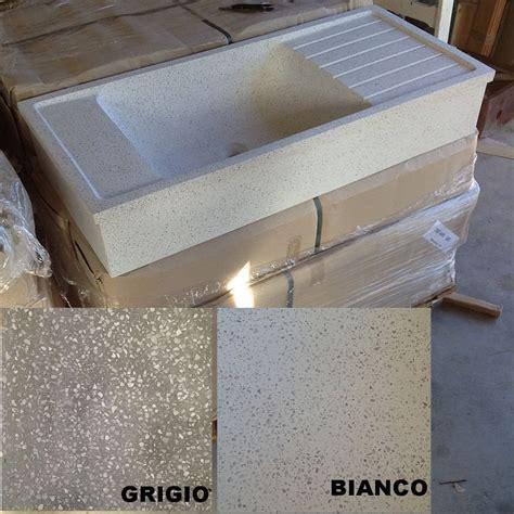 lavello cemento lavandino in graniglia di marmo e cemento levigato cm