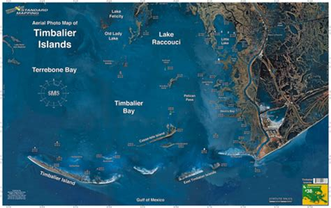 louisiana fishing map timbalier islands aerial chart la38 keith map service inc
