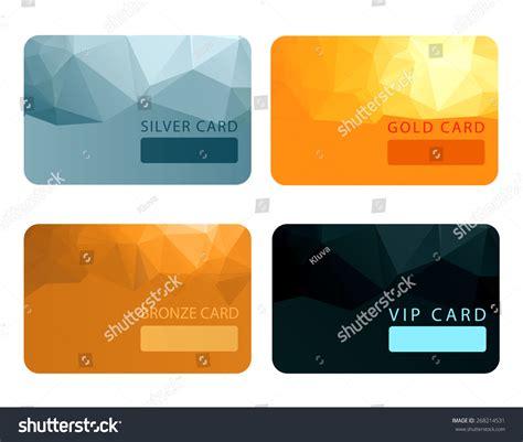 Platinum Membership Card Template by Gold Silver Bronze Vip Premium Member Stock Vector