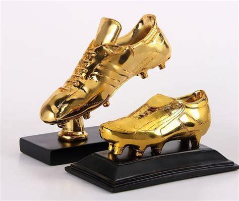 golden shoe football shoe trophies shoes post