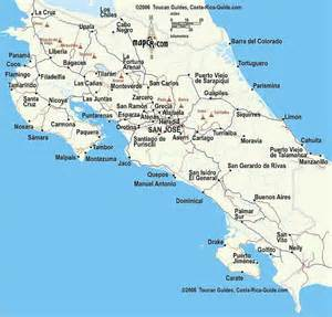detailed road map of costa rica costa rica maps travel in costa rica road maps elevation costa rica