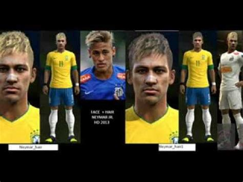 pes 2013 hairstyle pes 2013 neymar new face hair link download youtube