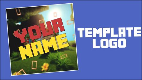 template 1 logo youtube minecraft hd youtube