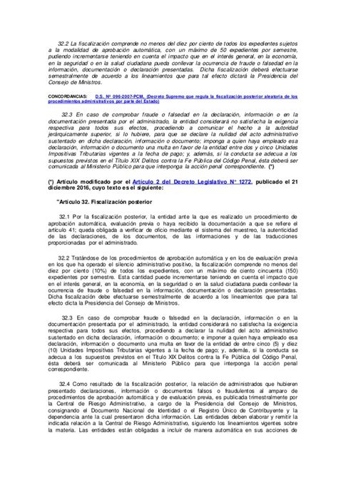 ley del procedimiento administrativo general decreto ley del procedimiento administrativo general