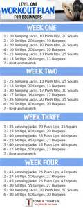 free home workout plans 4 week beginner s workout plan tone and tighten