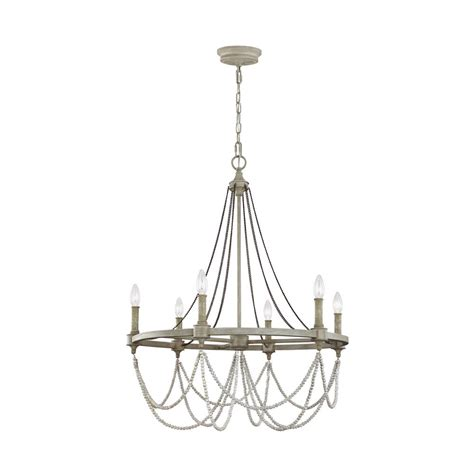 Distressed Chandeliers Feiss Beverly 6 Light Washed Oak Distressed White Wood Chandelier F3132 6fwo Dww The
