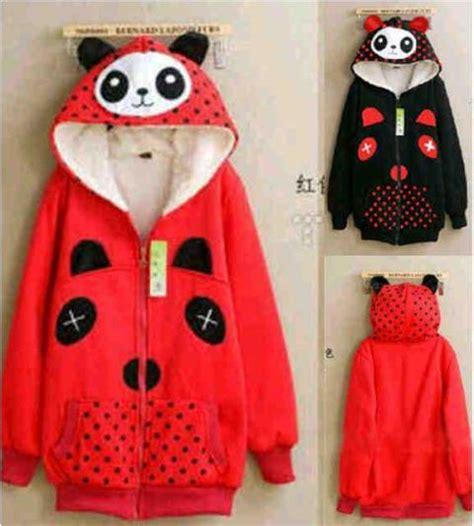 Jaket Wanita Jaket Merah Lo Jaket Wanita Babytery Merah jaket panda merah hitam jual jacket remaja cewek keren murah model terbaru